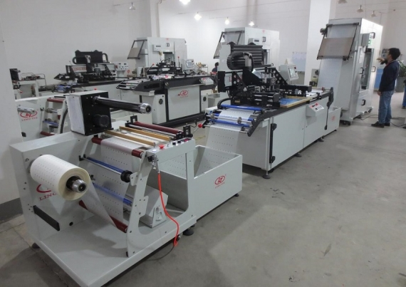 Roll-to-Roll Screen Printing Machine pentru PVC, PET